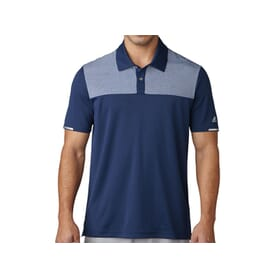 Adidas Mens ClimaChill Heather Block Competition Polo Shirt