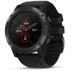 Garmin fenix5X Plus Sapphire Black hodinky, Black Band